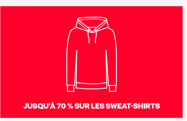 Up to 70% off sweats