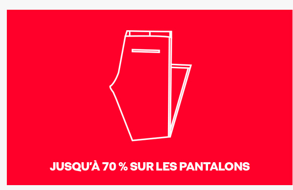 Up to 70% off trousers