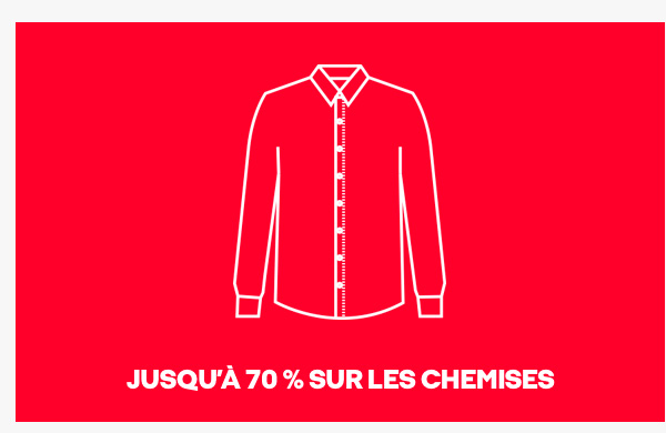 Up to 70% off shirts